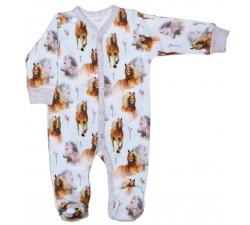 Cyfrowy pajac niemowlęcy bawełniany