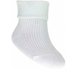 Białe bawełniane skarpetki 0-3 msc
